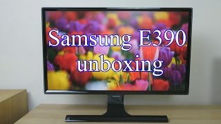 Samsung S24E390HL unboxing