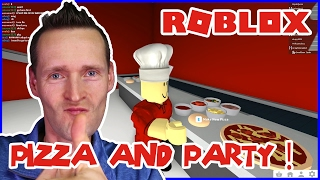 Baking Pizza and House Party! / Roblox Welcome to Bloxburg