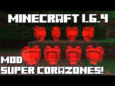 Minecraft 1.6.4 MOD SUPER CORAZONES!