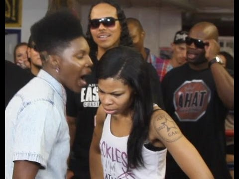 Gay female rapper pulls out a strap-on in rap battle | AHAT | Stud Phamous vs Zan