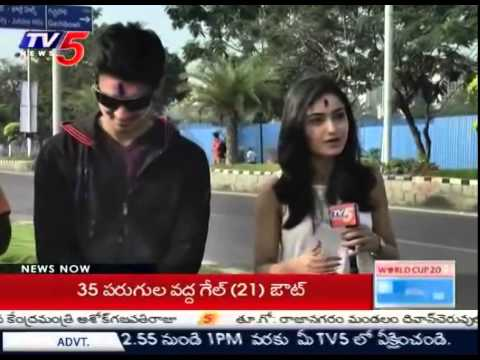 """Surya vs Surya"" Team Plays Holi   Nikhil, Viva Harsha,Satya,Tridha Choudhury : TV5 News Photo Image Pic"