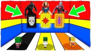 ¡NO ELIJAS LA DIMENSIÓN EQUIVOCADA! BLACK PANTHER, CAPITANA MARVEL Y ANT-MAN en Minecraft
