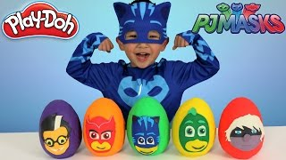 Disney PJ Masks Play-Doh Surprise Eggs Opening Fun With Catboy Gekko Owlette Ckn Toys