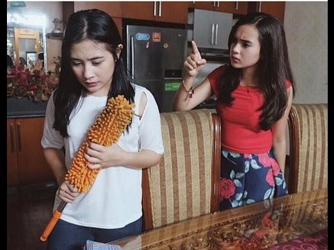 Behind the scane Prilly saat shooting Bawang Merah Bawang Putih [Film terbaru] 2017