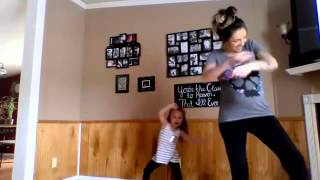 Pregnant Mom & Adorable Daughter Dance