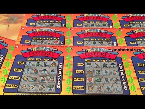7X LOTERIA SCRATCHERS!! $3 California Lottery Scratchers
