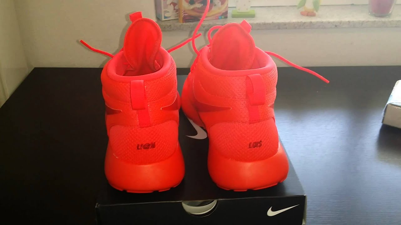 rosherun red october nikeid nike id yeezy air youtube. Black Bedroom Furniture Sets. Home Design Ideas