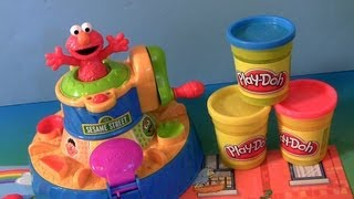 Learn Colors with Play Doh Elmo Color Mixer Playset and Cookie Monster
