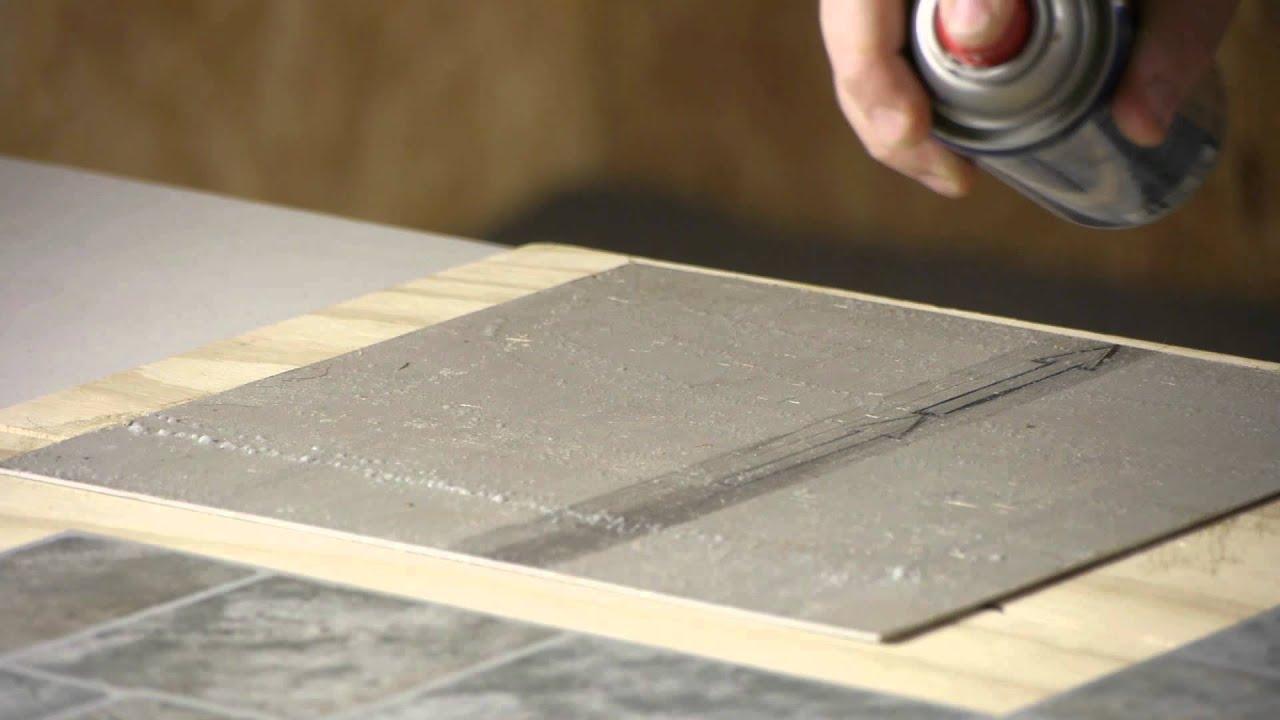 Glue down floor tiles