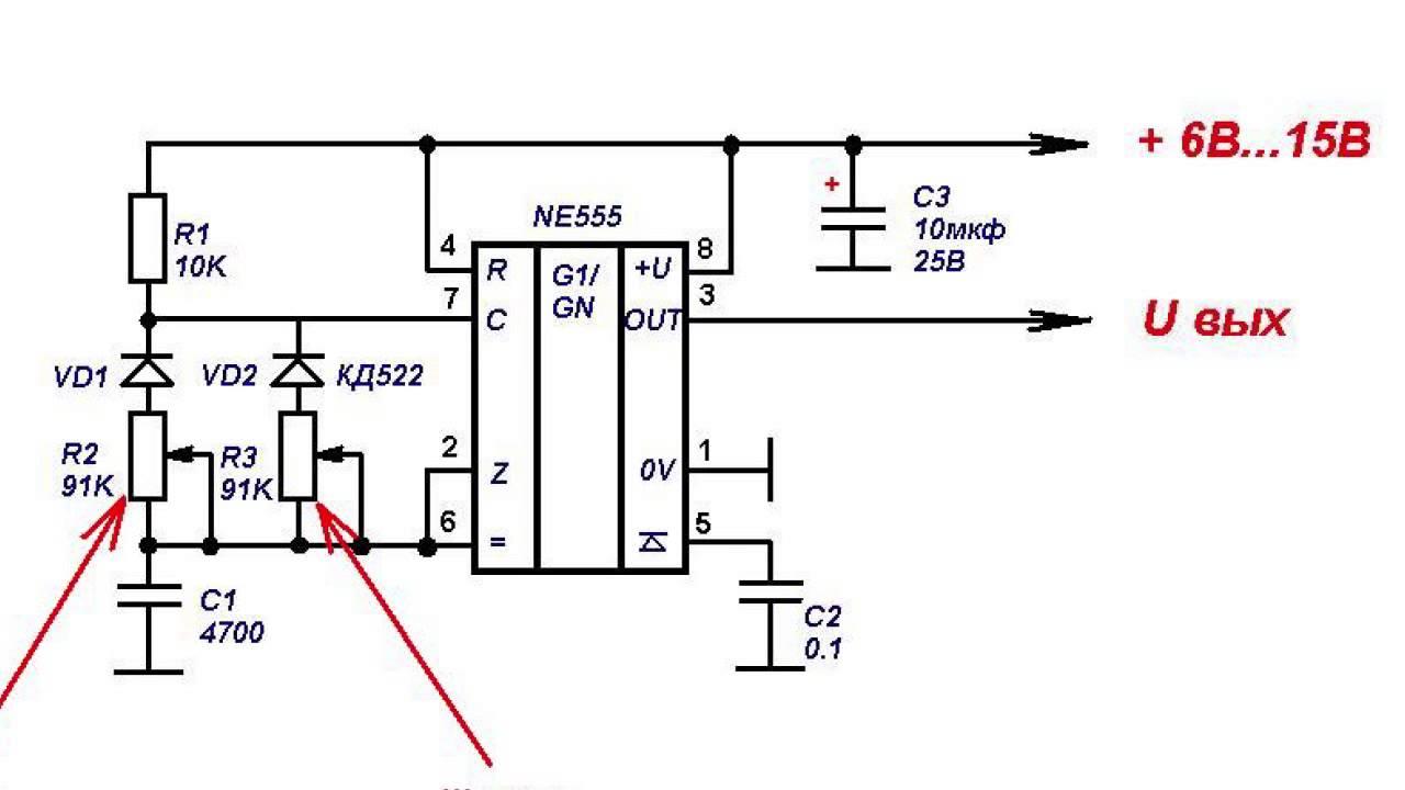Мультивибратор на полевых транзисторах схема фото 603
