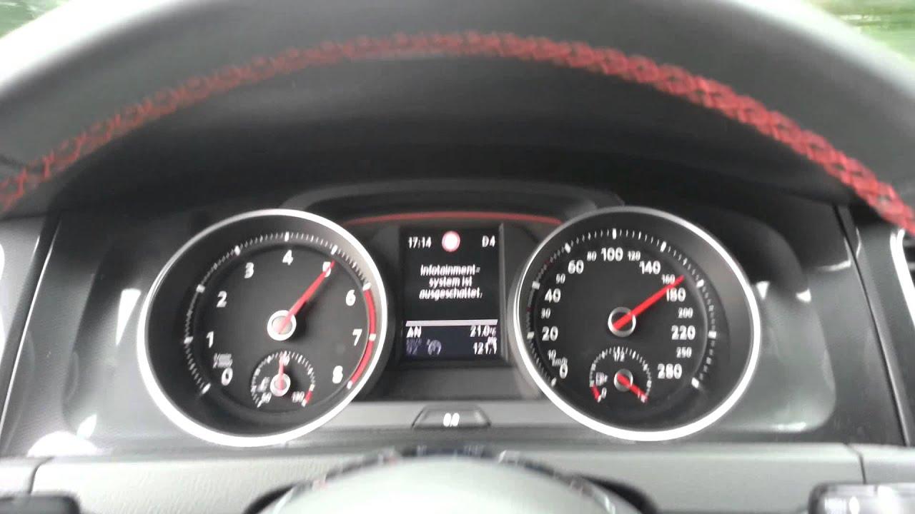 VW Golf 7 GTI 2.0 TSI DSG (Performance 230 PS) 30 - 170 KMH / 0 - 100