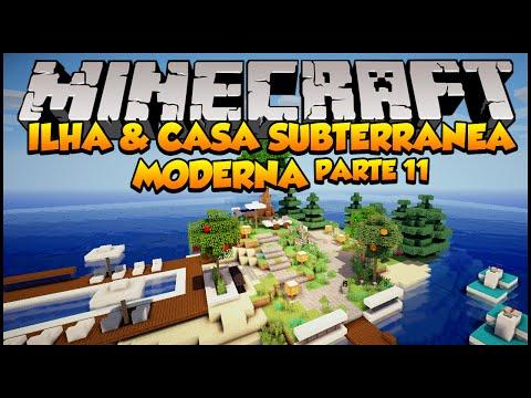Minecraft: Ilha e Casa Subterrânea Moderna Parte 11 +DOWNLOAD