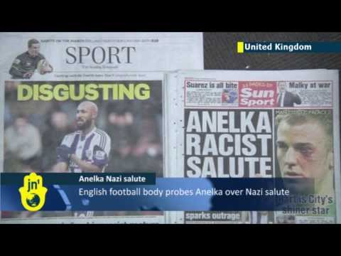 Nicolas Anelka faces FA probe over Nazi salute: French anti-Semitic salute known as 'Quenelle'