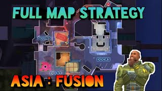 Asia: Fusion full Map Strategy || Guns Of Boom || Insane Gamer