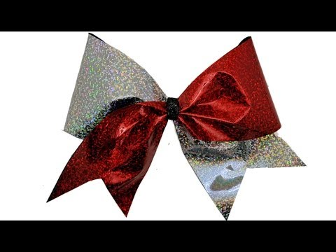 How To Make A Holographic Cheer Bow - DIY