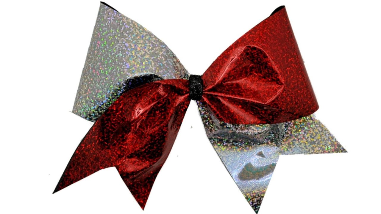 How To Make A Holographic Cheer Bow Diy Youtube