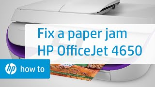 Fixing a Paper Jam on the HP OfficeJet 4650 Printer   HP OfficeJet   HP