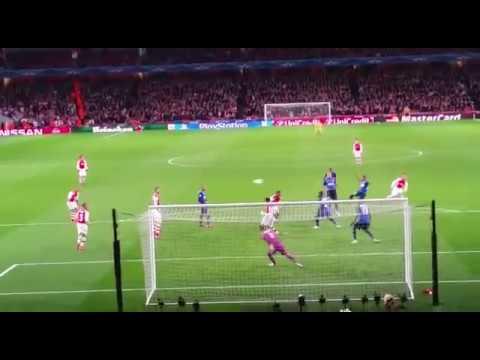 Alex Oxlade-Chamberlain goal vs Monaco 25/2/15
