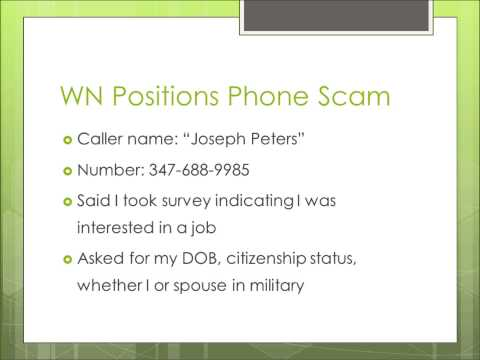 WN Positions Phone Scam Recording