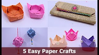 #WallHanging #DIYRoomDecor #HandmadeThings 5 Awesome Easy Paper Crafts| DIY Projects | Aloha Crafts