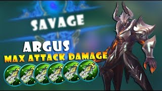 NEW HERO ARGUS MAX ATTACK DAMAGE GAMEPLAY! BEST HERO EVER!