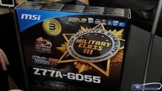 MSI Z77A-GD55 Military Class III UEFI BIOS Motherboard Unboxing