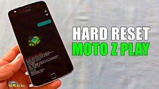 Aplicando o hard reset no Moto Z Play XT1635 configurações originais