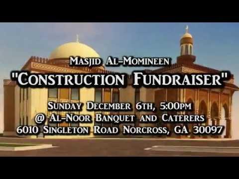 """December 6th """"Construction Fundrasier"""" for Masjid Al-Momineen"""