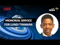Memorial service for Lundi Tyamara