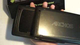 Archos 70b Android 3.2 Honeycomb Tablet im Unboxing