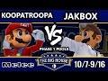 TBH6 SSBM - KoopaTroopa (Mario) Vs. JakBox (Dr. Mario) - Smash Melee Pools