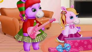 Pony Sisters Baby Horse Care Kids Game - Pony Sisters Christmas - Fun Pony Games For Girls and Kids.