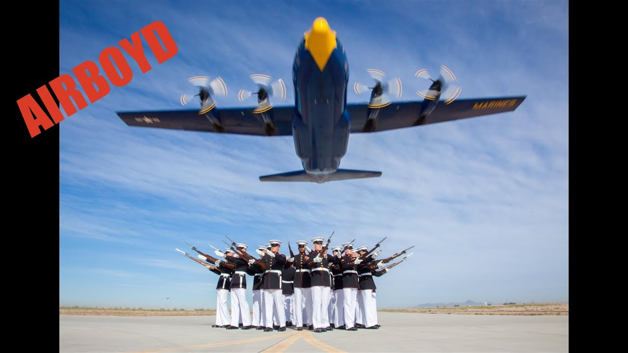 Blue Angels Fat Albert And Silent Drill Platoon - YouTube