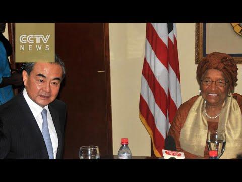 Chinese FM Wang Yi visits Liberia