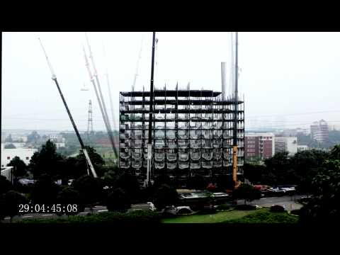 Ark Hotel Construction time lapse building 15 storeys in 2 days (48 hrs)