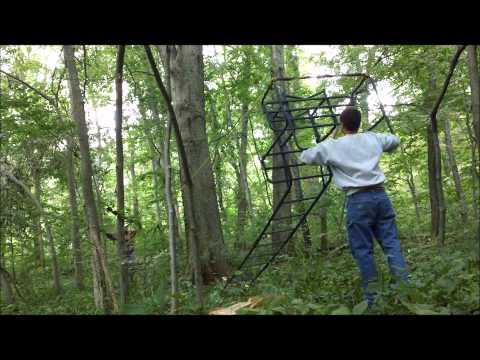 How To Put Up A Double Ladder Stand With Just 2 People