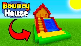 Minecraft Tutorial: How To Make A Bouncy House with a Water Slide (Bouncy House In Minecraft)