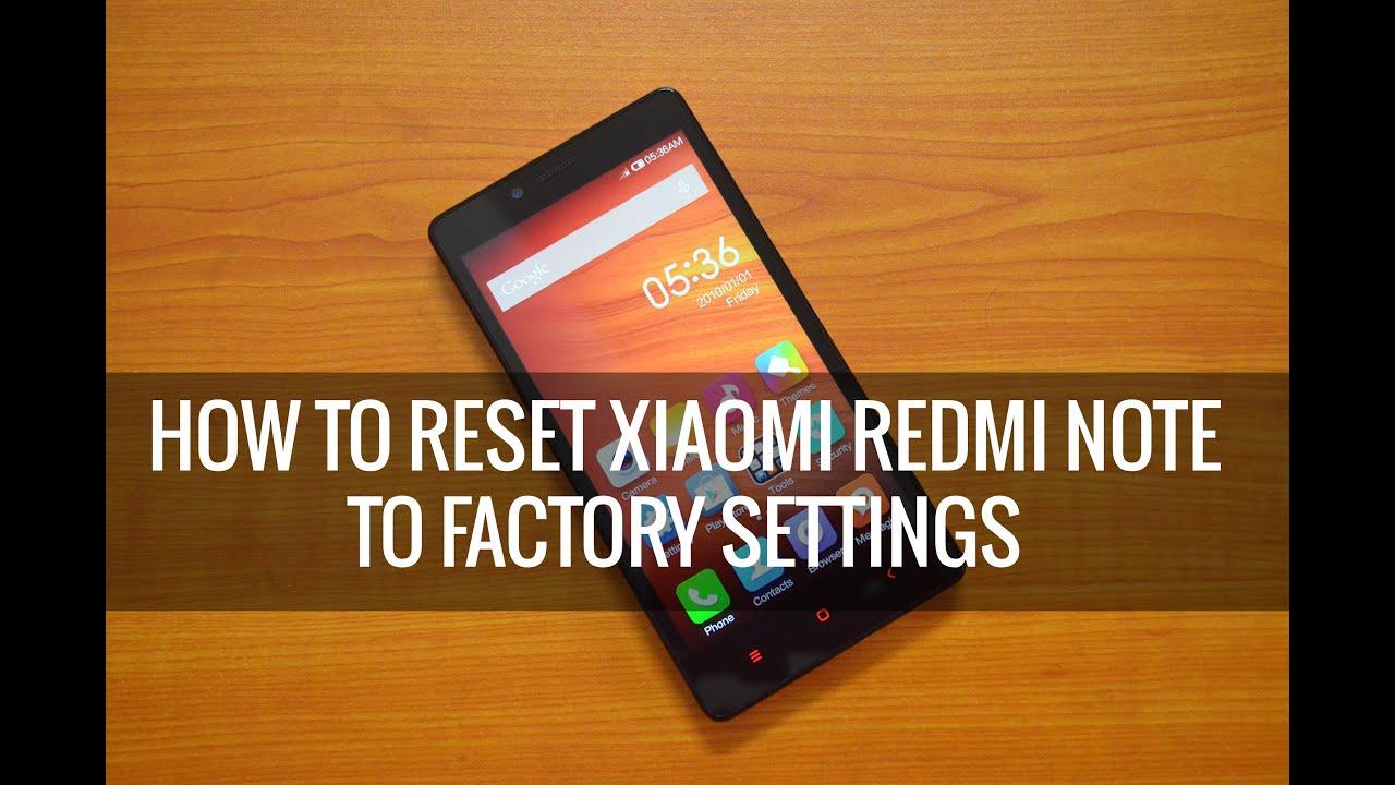 Как сделать хард ресет на xiaomi redmi 2