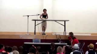Lucy Performs the Cup Song at IHM School Talent Show
