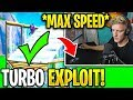 TFUE *NEW* Turbo Build EXPLOIT for *MAX SPEED* Building AFTER Nerf! (Fortnite)