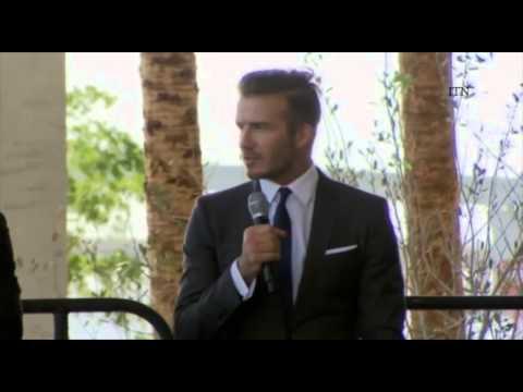 David Beckham Visits Kendall Soccer Park in Miami