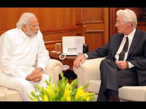 Hollywood Actor Richard Gere Meets Narendra Modi