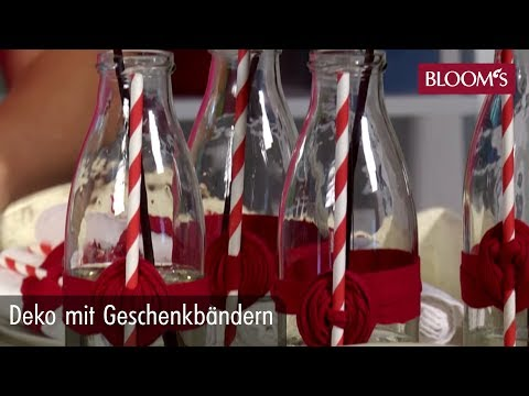 Sommerliche DIY-Deko mit Geschenkbändern