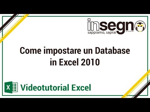 Excel lezione 1 - Come impostare un database in Excel 2010