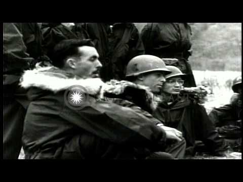 United States soldiers in Korea battle zone try to take some time off for Christm...HD Stock Footage