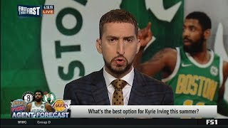 FIRST THINGS FIRST | Celtics or Knick? What's the best option for Kyrie Irving this summer?
