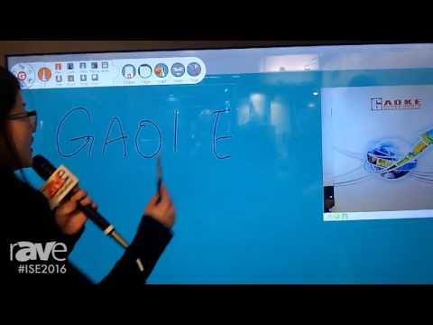 ISE 2016: Gaoke Demonstrates LCD Touch Screen