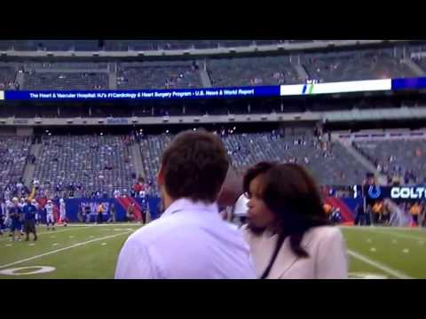 Pam Oliver Hit in The Face With Football; Errant Pass By Chandler Harnish