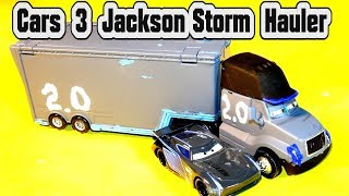 Pixar 3 Cars Jackson Storm Hauler and Next-Gen Lightning McQueen and other Custom Diecast from Matte