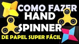 COMO FAZER UM HAND SPINNER DE PAPEL - Super Fácil e Rápido